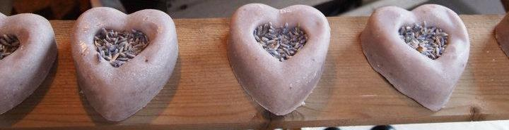 Decorated Lavender Hearts