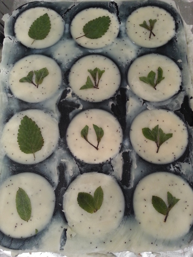 Minty Fresh Scrub Cakes_in their moulds_ALL NATURAL SOAP Co