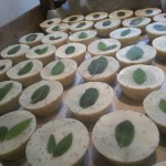 Minty Fresh Scrub Cakes_on the drying rack_ALL NATURAL SOAP Co