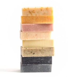 colourful soap stack