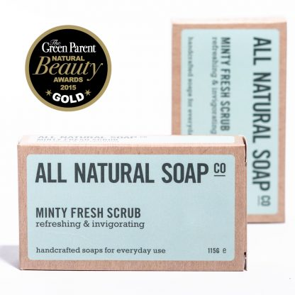 Minty Fresh Scrub soap - boxed