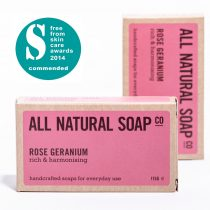 Rose Geranium soap - boxed